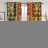 YUNSW Cortinas Decorativas con Diseño De Cachorro De Oso Lindo para Sala De Estar, Dormitorio, Cocina, Cortinas De Aislamiento, Juego De 2 Piezas