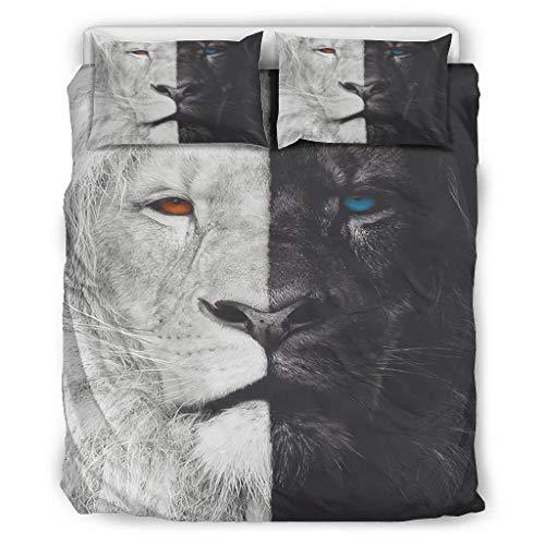 Haythan Juego de ropa de cama de 3 piezas, natural – Juego de ropa de cama de 3 piezas para cama individual, Queen, King White 168 x 229 cm