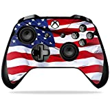 MightySkins Skin Compatible with Microsoft Xbox One X Controller - American Flag | Protective, Durable, and Unique Vinyl Decal wrap Cover | Easy to Apply, Remove, and Change Styles | Made in The USA