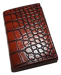small Crocodile imitation leather, Scully Cognac men's credit card wallet