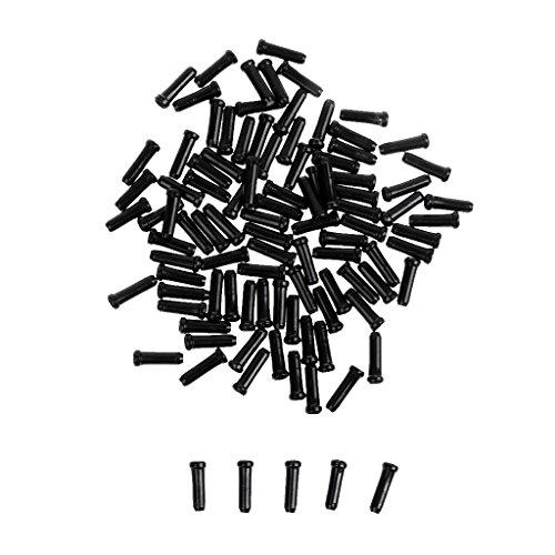Gazechimp Set 100pcs Embouts Gaines Câble Fixation Frein de Changement de Vitesse Intérieur Vélo Bicyclette - Noir, 11mm