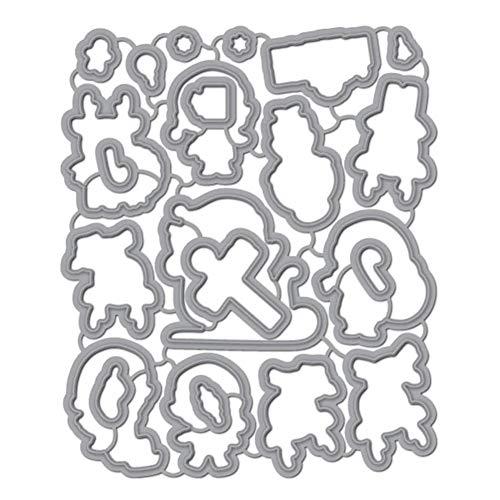 Floskam Scrapbooking Schneidwerkzeuge, DIY Album Prägestempel Vorlage Weihnachtsmuster Metallschneidwerkzeug (A)
