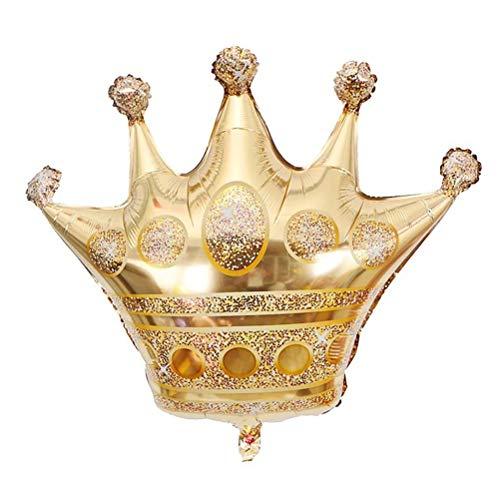 STOBOK 5 stücke Gold Crown Folienballons König Crown Holographische Folienballon für Hochzeit Geburtstag Festival (Mittlere Größe)