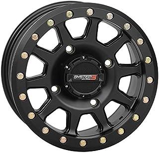 System 3 SB-3 Beadlock 15x7 ATV/UTV Wheel - Matte Black (4/137) 5+2 [19-0084]