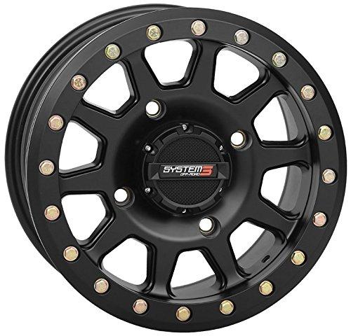 System 3 SB-3 Beadlock 14x10 ATV/UTV Wheel - Matte Black (4/137) 5+5 [19-0081]