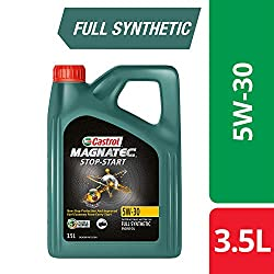 Castrol MAGNATEC Stop-Start 5W-30 Full Synthetic Engine Oil for Petrol, Diesel and CNG Cars (3.5L),Castrol,3383754