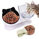 Legendog Katzennapf,Katze Futternapf /15° Gekippte Plattform katzennäpfe/Hundenapf für Katze Welpe Futter und Wasser
