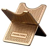 CIGARLOONG Cigar Stand Carbon Fiber Detachable Portable Cigar Travel Holder Accessories(Color:Gold)