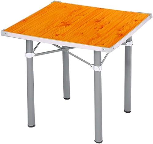 NJLC Table Pliable, MéNage Simple Se La Table Pliante CarréE Portative De Table Pliante,B