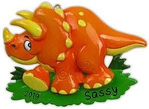 Hobby Home Accessories Dinosaur (Orange) Personalized Christmas Ornament 2019   Custom Christmas Dinosaur Ornament Gift