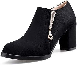 BalaMasa Womens Solid Platform Urethane Pumps Shoes APL10662