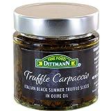100% Italian Black Summer Truffle Carpaccio (6.35 Oz) - Thin Shaved Truffle Slices (Tuber Aestivum) in Olive Oil - Gourmet Ready to Eat Truffles