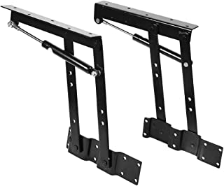 Zerodis 1pair Folding Lift Up Spring Hinges Coffee Table Mechanism Hardware Top Lifting Frame