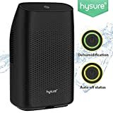 Hysure® 2000ML Dehumidifier,Portable Electrical Dehumidifier for Home,Bedroom,Bathroom,Kitchen,Basement and Small Office-Black