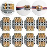 ctricalver 8 pcs spl-4 compact connettore | morsettiera a barra di pressione bilaterale | morsettiere elettriche | connettori filo con viti di fissaggio