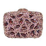 Bernice Funk Bolsos de Hombro Bolso de Mano con Asa Superior Bolso de Embrague de Diamantes de Cristal Verde Bolso de Boda para Fiesta de Mujer Púrpura Bolsos de Novia Bolsos de NocheA