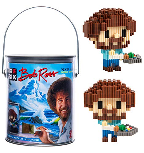 Bob Ross Pix Brix Pixel Art Puzzle Bricks Pixel Puzzle – Patented Colorful Building Bricks, Create 2D and 3D Builds Without Water, Iron or Glue – A Stem Toys Set for Adults and Kids
