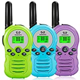 Kids Walkie Talkies 3 Pack, Wosports 2 Way Radio Toy Walkie Talkies for Kids, 3 Km Long Range 22 Channels...
