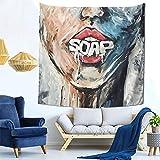 Ba-Dflower Tapiz Dormitorio Sala de estar Decoración Colgante de pared 59 X 59 inch