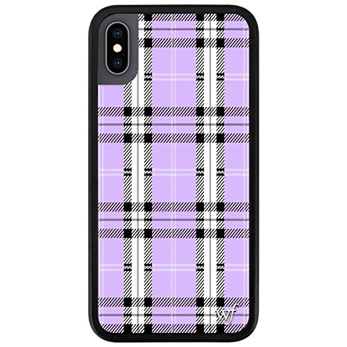 Wildflower Limited Edition Cases Compatible with iPhone X and XS (Lavender Plaid)