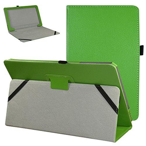 """Diseño específico para 11.6"""" TrekStor SurfTab twin 11.6 Windows 10 Tablet PC Hecha de PU Piel de Alta Calidad con ranuras y un compartimento pequeño que le permiten guardar tarjetas y billetes Tiene un broche magnético en la tapa frontal que mantiene..."""