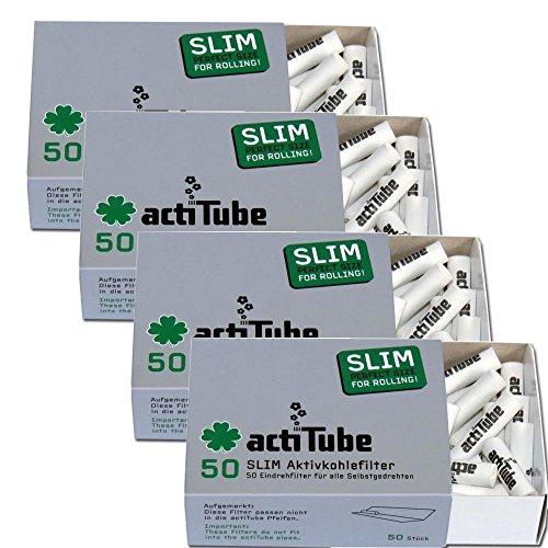 Nouveauté Mondiale Charbon Actif Filtre 500 X Actitube Slim Actif 7,1mm 10x50