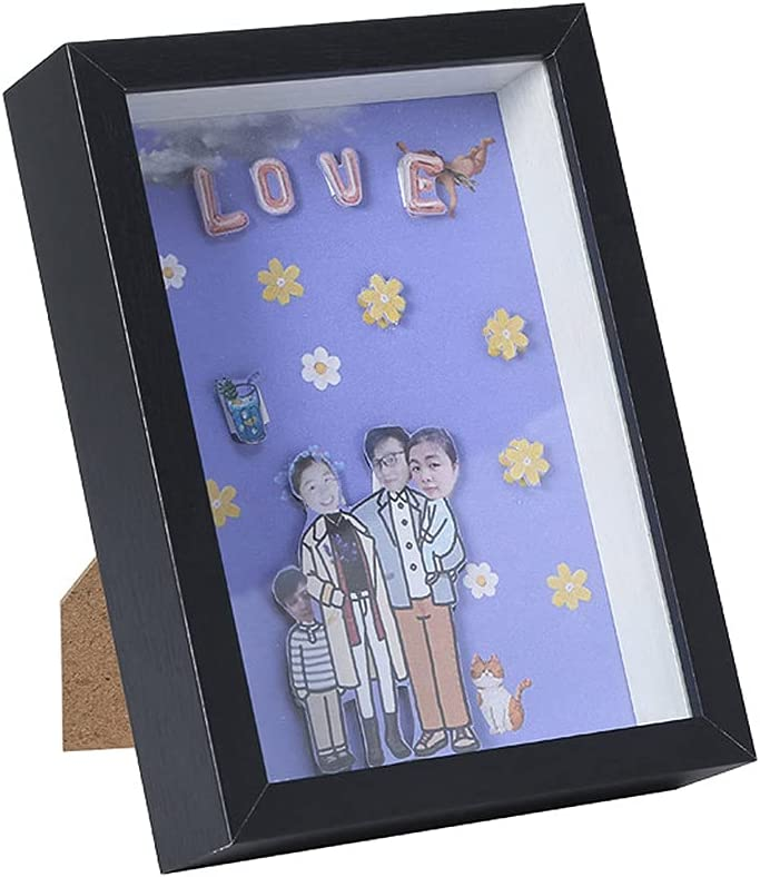 LSJTY Shadow Box 3D Picture store Case Super-cheap Memory Display for Frame