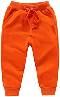 Bfsports Unisex Kids Solid Cotton Drawstring Waist Pants Toddler Baby Active Sweatpants
