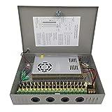 18 Canales Salida de Puerto 12V 30A 360W CCTV DVR Caja de Fuente de Alimentación Distribuida para Cámaras de Seguridad con Ventilador Incorporado