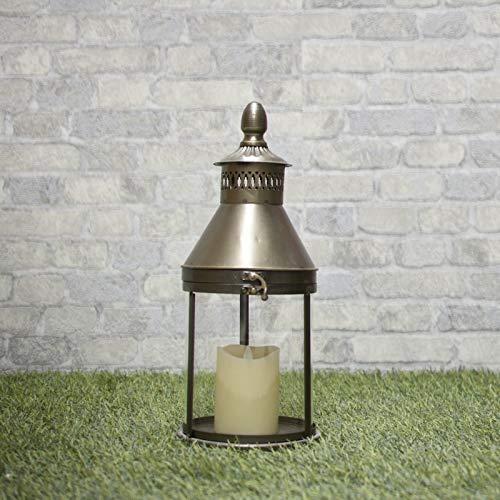 chemin_de_campagne Lanterne à Poser Style Tempête en Fer 40 cm