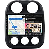 Car Radio for Jeep Patriot Compass 2010-2016 Android 10.1 Carplay FM AM Bluetooth Free HD Backup Camera10-inch Capacitive Touch Screen GPS Navigation 2G+32G