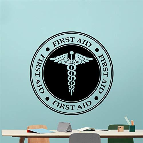 JXND Erste-Hilfe-Zeichen Zuckerrohr Wand Vinyl Aufkleber medizinisches Symbol medizinisches Zeichen Vinyl Aufkleber Krankenwagen Auto Notfall Wandaufkleber 60x60cm