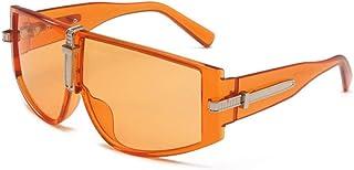 Gosunfly - Gafas de sol integradas con personalidad a prueba de viento de los hombres de la moda gafas de sol de moda de color océano con montura grande