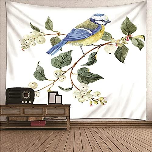 Bishilin Tapestry Aves y Ramas, Decoración del Hogar Pared de Hogar, Pareo/Toalla de Playa Grande, Sofá- 260x240CM