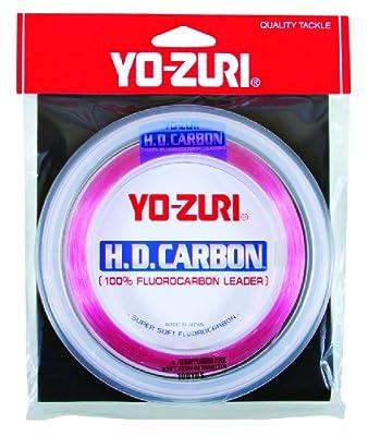 Yo-Zuri H.D. Fluorocarbon Wrist Spool 100-Yard Leader Line, Pink, 20-Pound