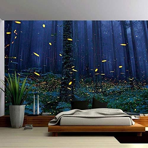 WERT Impresión de Bosque Natural Gran Tapiz Hippie Colgante de Pared decoración del hogar Bohemio tapices de Fondo Tela A6 130x150cm