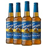 Torani Sugar Free Syrup, Hazelnut, 25.4 Ounces (Pack of 4)