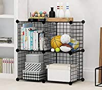 ✔ STURDY & DURABLE CONSTRUCTION: Made from steel mesh wire frames and painted in black. Mesh frames are assembled using heavy duty plastic connectors. ✔ FLEXIBLE & TOOL-FREE ASSEMBLY: No tool is required for the assemble this DIY Storage Organizer. L...