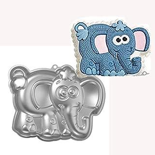 ZHYF 10-inch aluminum alloy 3D cake mold elephant shape baking tools baking pan - elephant