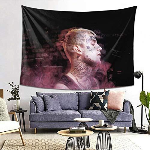 Denver T Hurst Lil Peep Tapiz de decoración de pared exclusivo para colgar en la pared, multiuso, horizontal, telón de fondo, para sala de estar, dormitorio, talla única