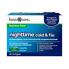 ACTIVE INGREDIENTS: This product contains acetaminophen (pain reliever and fever reducer), dextromethorphan HBr (cough suppressant) and doxylamine succinate (antihistamine) which compares to the active ingredients in Vicks NyQuil Cold & Flu. POWERFUL...
