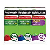 Robitussin Adult Maximum Strength Cough, Chest Congestion & Sore Throat Wellness Pack, Cou...