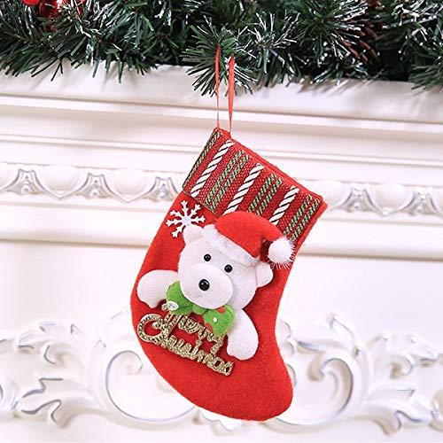 1 stuks mini-kerstkousen, kerstman, beer eland, sneeuwman, sokken, geschenkzakje voor snoep, boom, festival, party, decoratie in panty's, huisdieren, tuin