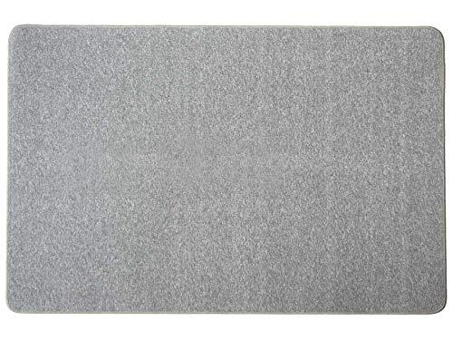 Kurzflor-Schlingen-Teppich Macao - Grau-Blau, 140x200 cm, Hochwertige Schlingenware Gekettelt für Wohnzimmer und Kinderzimmer