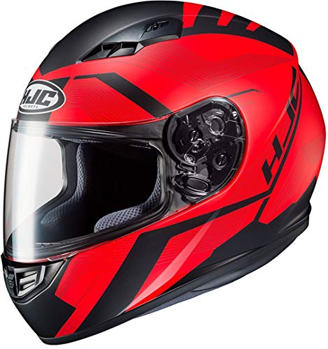 HJC CS 15 FAREN MC1SF - Casco de moto (talla S), color rojo y negro