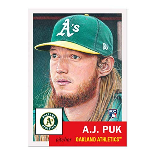 2020 Topps The MLB Living Set Baseball #295 A.J. Puk RC Rookie Oakland Athletics ONLINE EXCLUSIVE MLB Trading Card (A Continuation Set Begun in 2018)