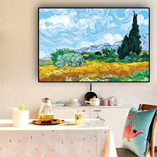 Geiqianjiumai Cypress Pintura al óleo Lienzo póster e Impresiones ...
