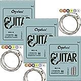 Orphee RX19 Gitarrensaiten für E-Gitarre, vernickelter Stahl, Ball-Ende, Medium 011, 014, 018, 026, 036, 050, 3 Sets
