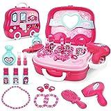 Dreamon Fai Finta di Giocare Kit di Gioielli per Ragazze - Set di Giocattoli Principessa Regalo per Bambini 3 4 5 6 Anni