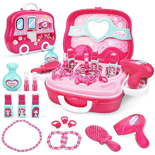 Dreamon Role Play Jewellry Kit for Girls Boys Toy Set Princess Suitcase Gift for Children Kids 3 Years Old